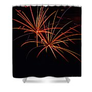 Fireworks Dual Shower Curtain by Meta Gatschenberger
