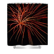 Fireworks Explosion Shower Curtain by Meta Gatschenberger