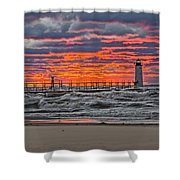 First Day Of Fall Sunset Shower Curtain