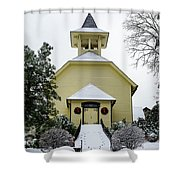 First Presbyterian Church In The Snow Shower Curtain