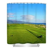 First Tee At Brora Golf Club, Moray Shower Curtain