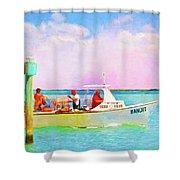 Fishing Bandit Shower Curtain