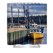 Fishing Boats At Wharf In Marie Joseph Shower Curtain