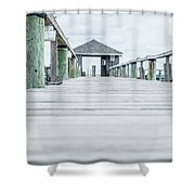 Fishing Dock Cape Cod Shower Curtain