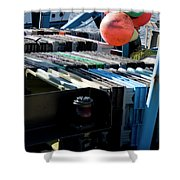 Abstract Fishing   Shower Curtain