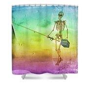 Fishing Man Shower Curtain