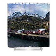 Fishing Village A On Lofoten Shower Curtain