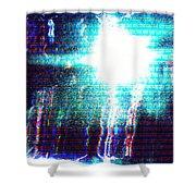 Flashlight Shower Curtain by Bee-Bee Deigner
