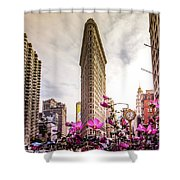 Flatiron And Flowers Shower Curtain