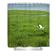 Salt Marsh Flight Shower Curtain