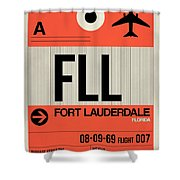 Fll Fort Lauderdale Luggage Tag I Shower Curtain