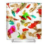 Floating In Colourful Abstract Shower Curtain