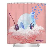 Floating Island Home Shower Curtain