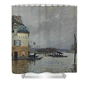 Flood At Port-marly, 1876 04 Shower Curtain