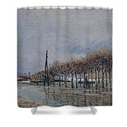 Flood At Port-marly, 1878 Shower Curtain