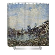 Flooded  Field Shower Curtain
