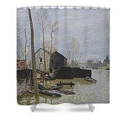 Flooding At Moret, 1889 Shower Curtain