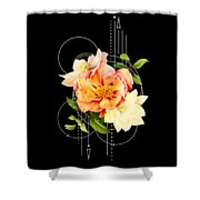 Floral Abstraction Shower Curtain by Bee-Bee Deigner