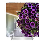 Floral Porch Sitting Shower Curtain
