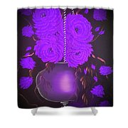 Floral Roses With So Much Passion In Purple  Shower Curtain