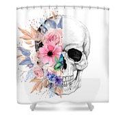 Floral Skull 2 Shower Curtain