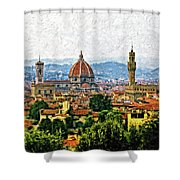 Florence Impasto Shower Curtain