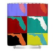 Florida Pop Art Map Shower Curtain