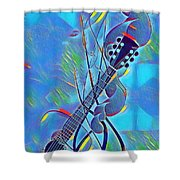 Flow Of Music Shower Curtain