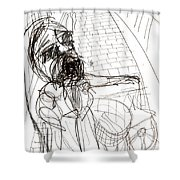 Flower Seller Shower Curtain