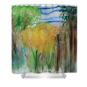 Flowers In A Forest Shower Curtain