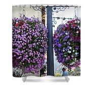 Flowers In Balance Shower Curtain by Mae Wertz