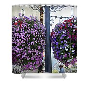Flowers In Balance Shower Curtain