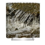 Flowing Water Over Rocks Shower Curtain