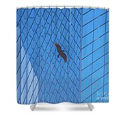 Flying Abstract Shower Curtain