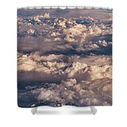 Flying Over The Rocky Mountains Shower Curtain