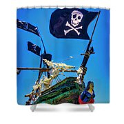 Flying The Pirates Colors Shower Curtain