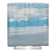 Fog And Snow On The Sangre De Cristo Shower Curtain