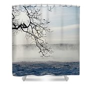 Fog Over The River Shower Curtain