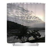 Fog Roll On Wataba Shower Curtain