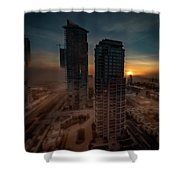 Foggy Day 1 Shower Curtain by Juan Contreras