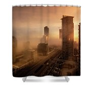Foggy Day 2 Shower Curtain by Juan Contreras