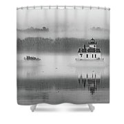 Foggy December At Esopus Light Shower Curtain