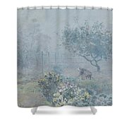 Foggy Morning, Voisins, 1874 Shower Curtain
