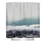 Foggy Sky Shower Curtain by Juan Contreras