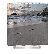 Follow Me Thoughtful Coastal Sunrise Shower Curtain