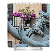 Fontana Dei Quattro Fiumi Shower Curtain