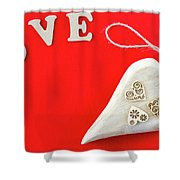 For Valentines Day 2 Shower Curtain