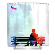 Forest Gump Watercolor II Shower Curtain