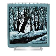 Forest Misty Dawn In Late Fall Shower Curtain