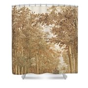Forest Road Wi  Shower Curtain